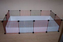 How to make a C guinea pig cage. I made one and LOVE it! It's so easy to clean and care of them.