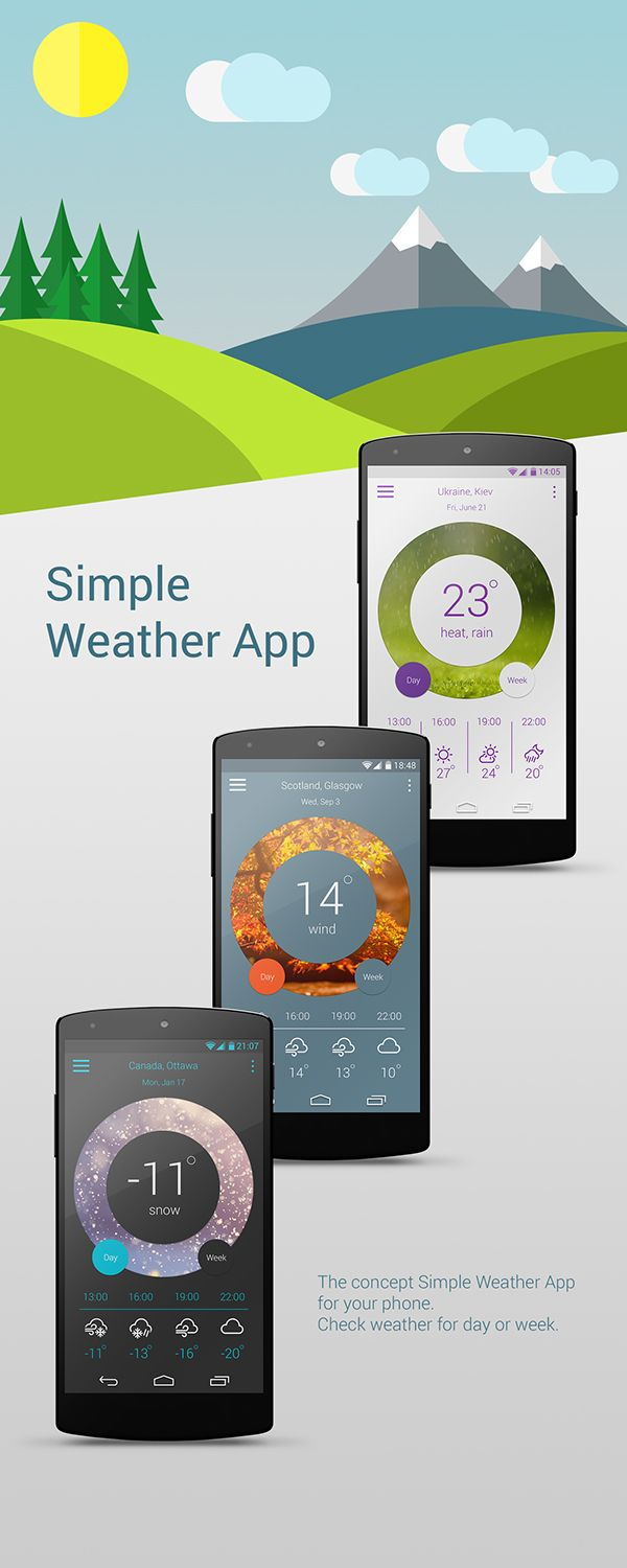 Weather App on Behance