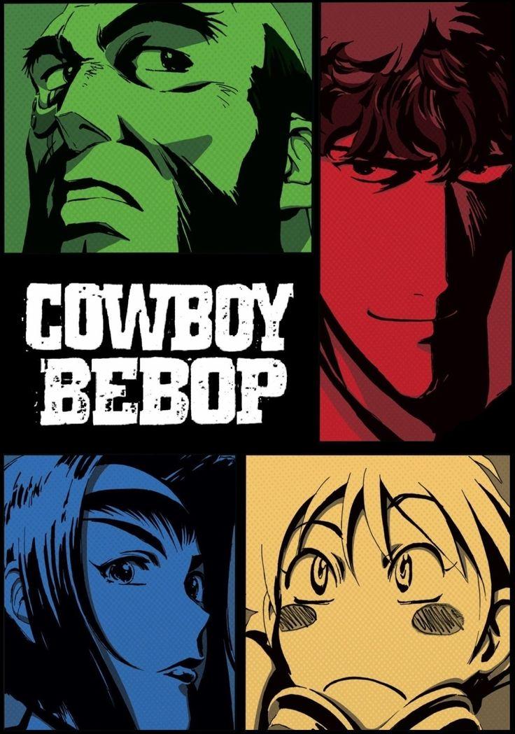 Cowboy Bebop  Con una de la mejores bandas sonoras,que alternan el blues, rock y jazz, cowboy bebop nos cuenta la historia de unos caza recompensas espaciales, accion, drama y roamce, cada personaje con una historia distinta que se irán revelando a medida q avanza esta corta pero apasionante serie, considerada una de las mejores de la historia del anime.