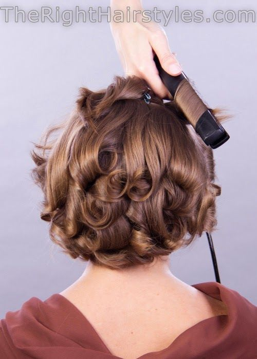 Curly Hairstyle Short Fine Hair Step-By-Step Tutorial fancy-curls-for-shor