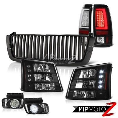 2003-2006 Chevy Silverado Vertical Grille 1PC Headlamps Taillights Fog Lamps DRL