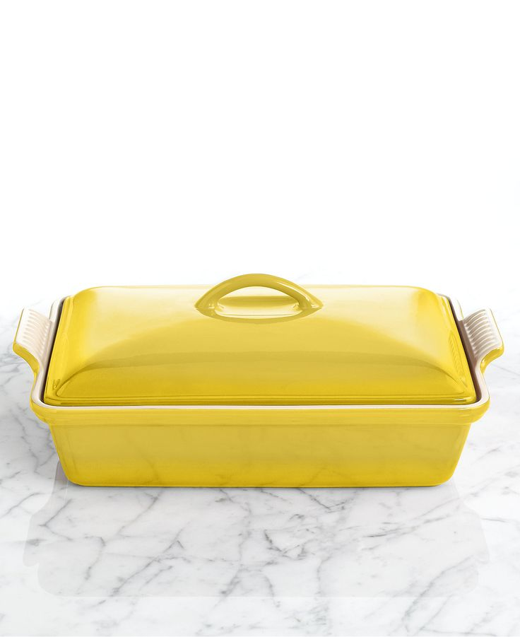"""Le Creuset Heritage Stoneware 12"""" x 9"""" Covered Rectangular Baking Dish - Sale & Clearance - For The Home - Macy's"""