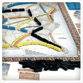 Ticket to Ride / Les aventuriers du rail. Auteur: Alan R. Moon Designer: Julien Derval