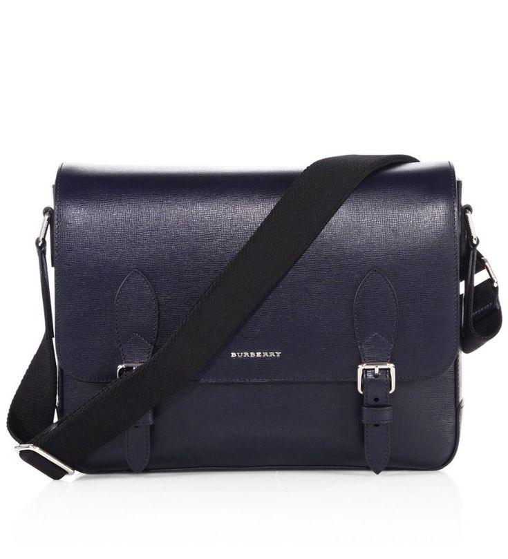 Burberry Hendley Calf Leather Messenger Bag Blue        $219.00