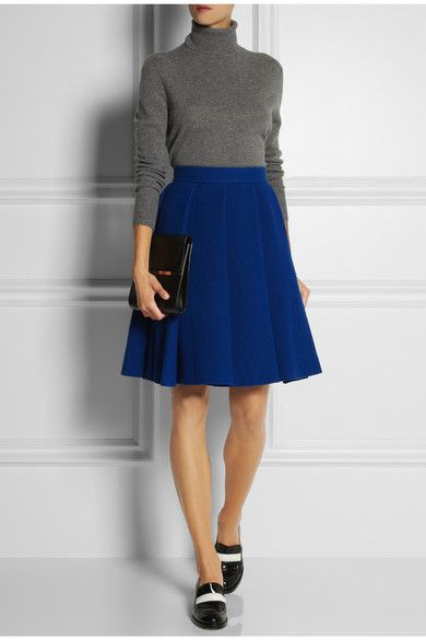 J.W.ANDERSON Pleated boiled wool-blend skirt