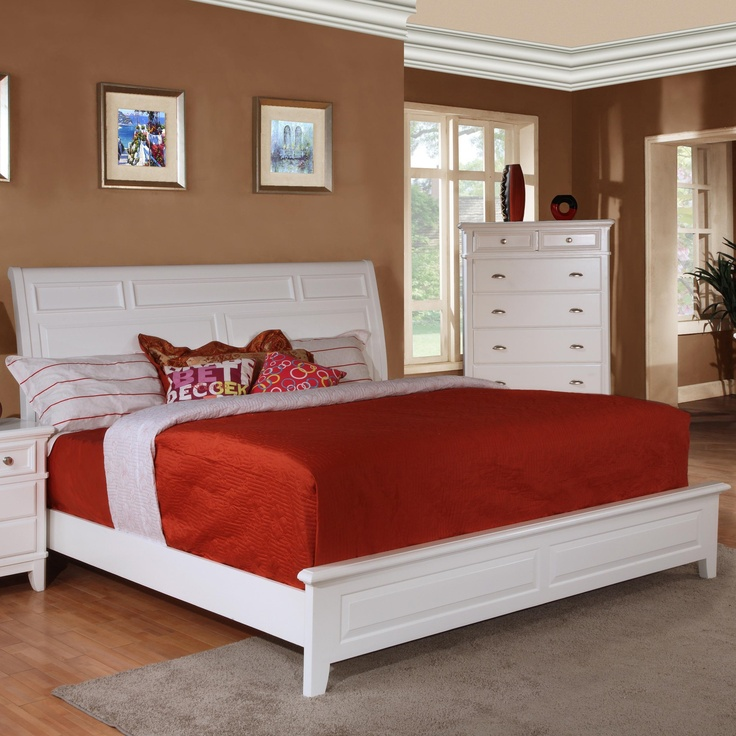 Simply White Queen Sleigh Bed By Lifestyle B1111 Bedroom Pinterest