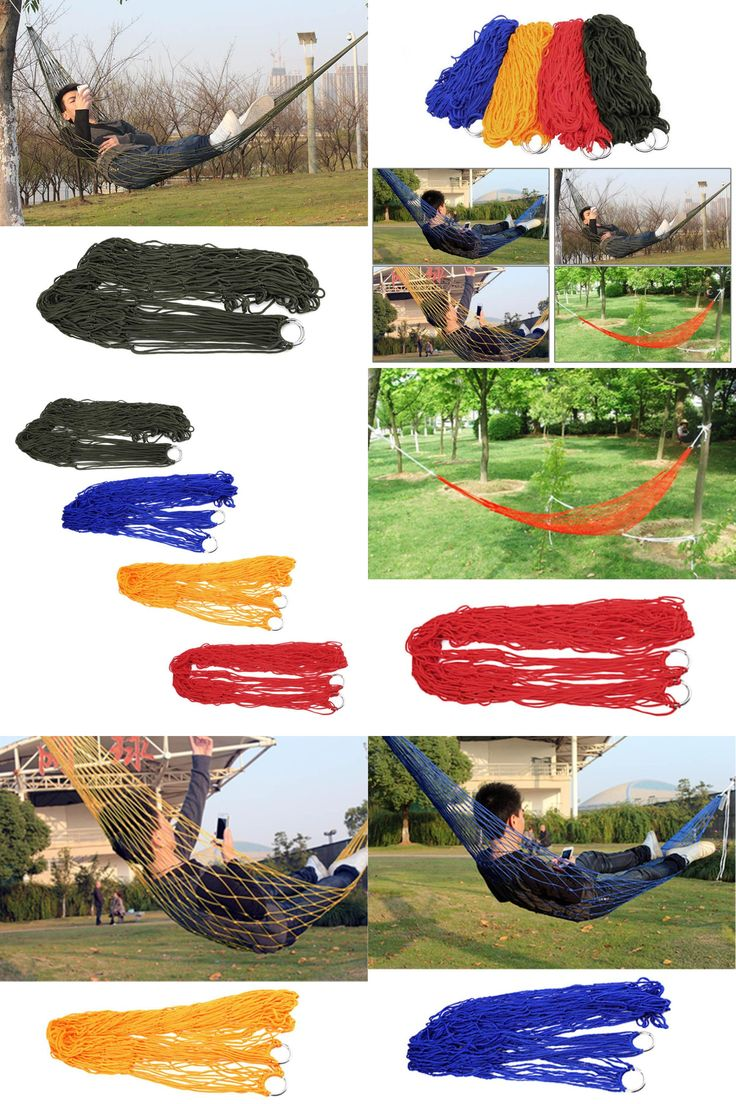 [Visit to Buy] Outdoor  Sleeping hammock hamaca hamac Portable Garden Camping Travel furniture Mesh Hammock swing Sleeping Bed Nylon HangNet #Advertisement
