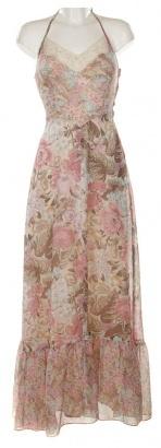 Multi Coloured Floral Halter Neck Dress - Vintage clothing from Rokit -