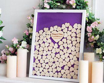 Unique Wedding Guest Book Wedding Guestbook Alternative Rustic Wedding Guest Book Drop box Guest Book ideas Wedding Guestbook Book Heart
