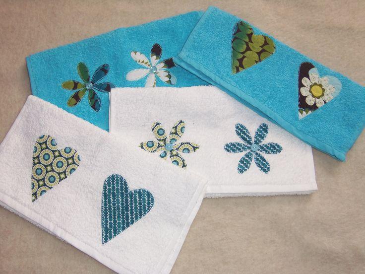 Asciugamani in spugna con applicazioni