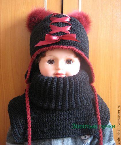 """Одежда для девочек, ручной работы. Ярмарка Мастеров - ручная работа Зимний комплект для девочки """"Бордо 2"""". Handmade."""