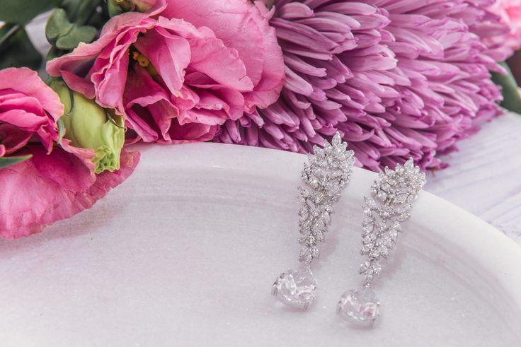 Bridal Earrings   Sasha Crystal Bridal Earrings