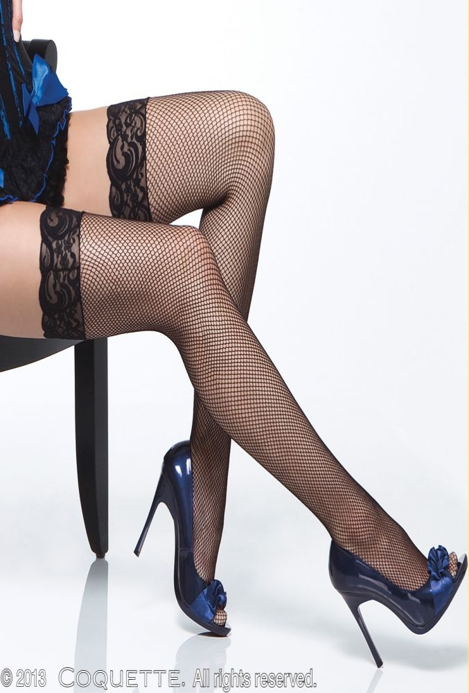 Coquette : Coquette Fishnet Stocking With Lace Top | Miss Elegance | Lingerie, Sexy Lingerie, Lingerie Australia, Sexy Underwear, Babydolls, Chemise, Teddies