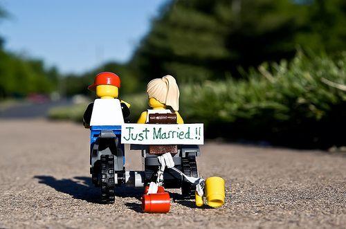LEGO Minfigures #lego #legowedding #wedding #justmarried #married #toy #toys