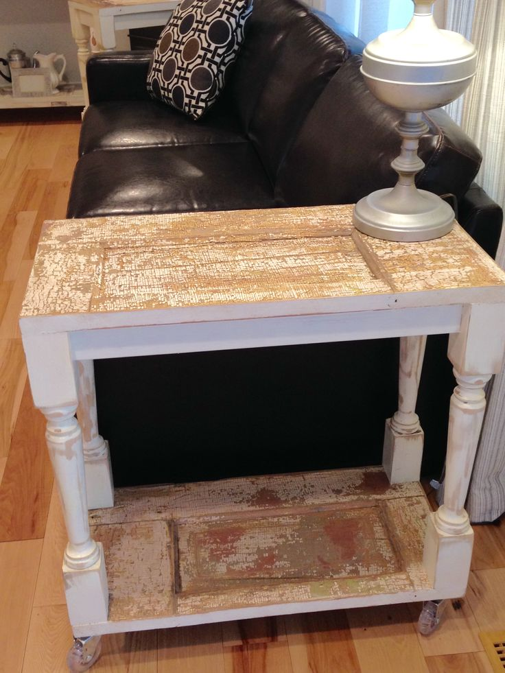 Fun and functional side table by Junk Chic 5280. Made from salvaged vintage door and. Vintage DoorsDenver ... & 73 best Junk :Vendor Booth Ideas images on Pinterest | Display ...