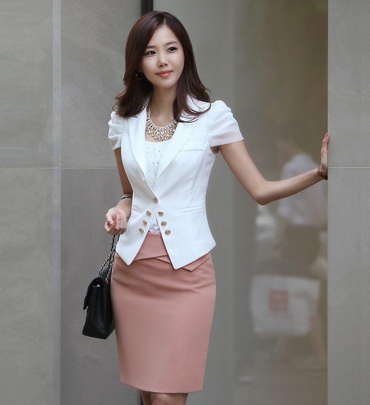 New 2015 Summer Formal Ladies White Blazer Women Suits ...