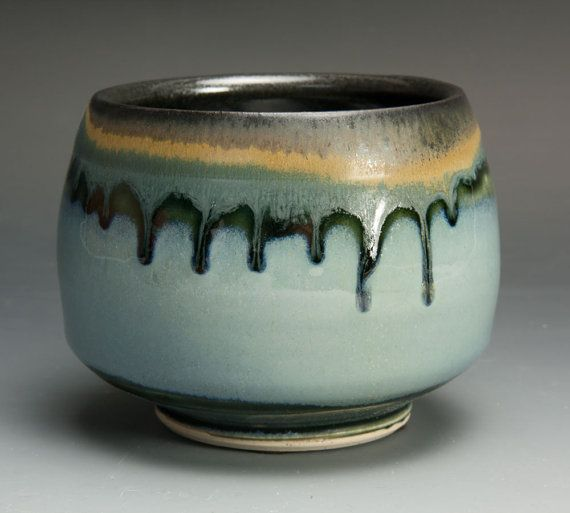 Sale 50 off Handmade Japanese tea bowl yunomi by BlueParrotPots, $12.00