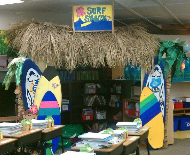 Surf shack classroom library school stuff pinterest for Surf decoration