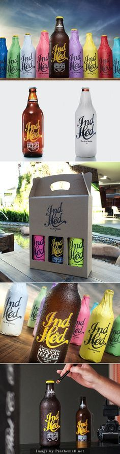 IndHed™ Premium Craft Beer PD http://behance.net?utm_content=buffer28ae2&utm_medium=social&utm_source=pinterest.com&utm_campaign=buffer - Very awesome #craftbeer label and packaging #design