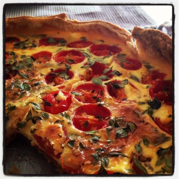 Tomatentaart met kruidenkaas (foto van Tanja)