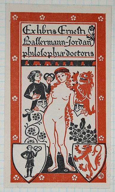 Ex libris Erneth Ballermann-Jordan