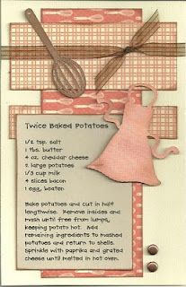 Twice Baked Potatoes Not two baked potatoes.  Cute scrapbook page.