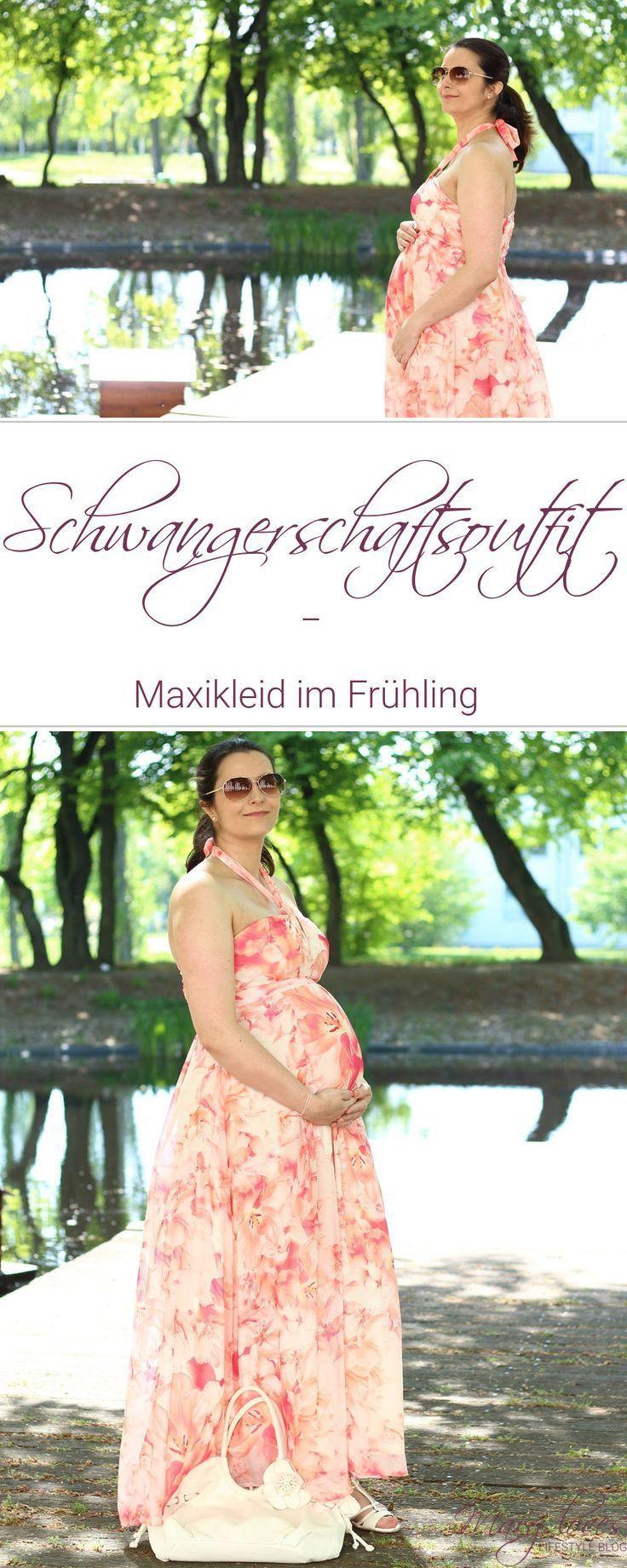 Schwangerschaftsoutfit: Maxikleid im Frühling - Mary Loves