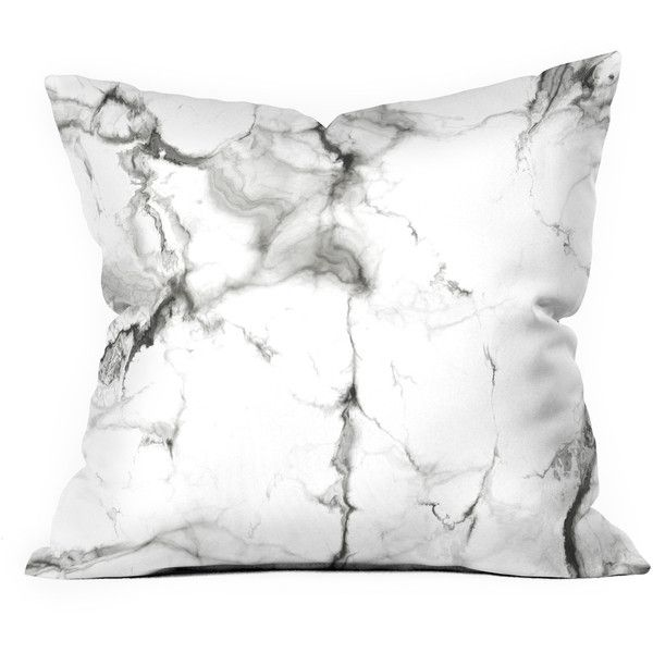Marble Throw Pillow (2,070 DOP) ❤ liked on Polyvore featuring home, home decor, throw pillows, pillows, decor, filler, textured throw pillows, gray accent pillows, grey home decor and white accent pillows