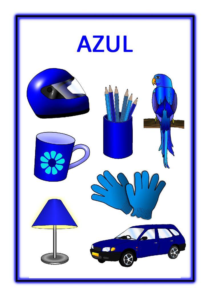 Atividades com cores primárias - Azul