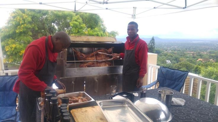 Nyama cooking with a view