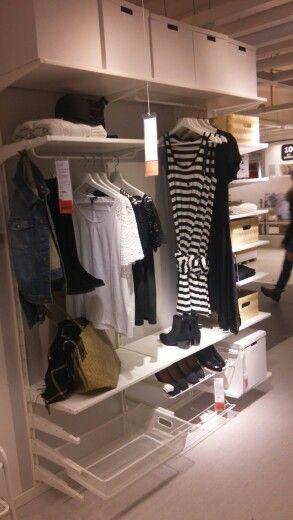 Algot förvaringssystem för klädkammare IKEA. Budgetalternativ till Elfa.