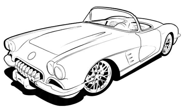 Corvette Classic Coloring Page With Images Cars Coloring Pages