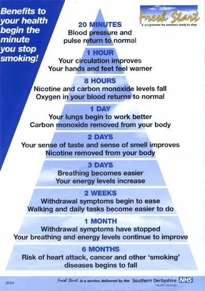 quit smoking benefits chart: 13 best smoking cessation materials images on pinterest smoking
