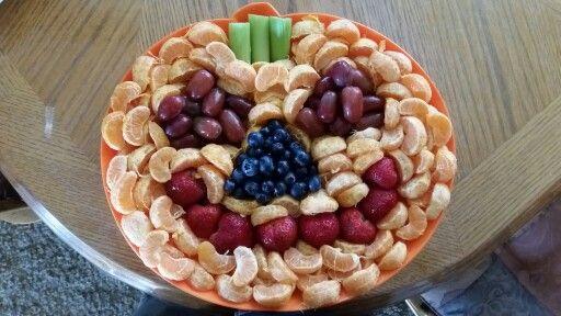Healthy Halloween Fruit Jack O Lantern