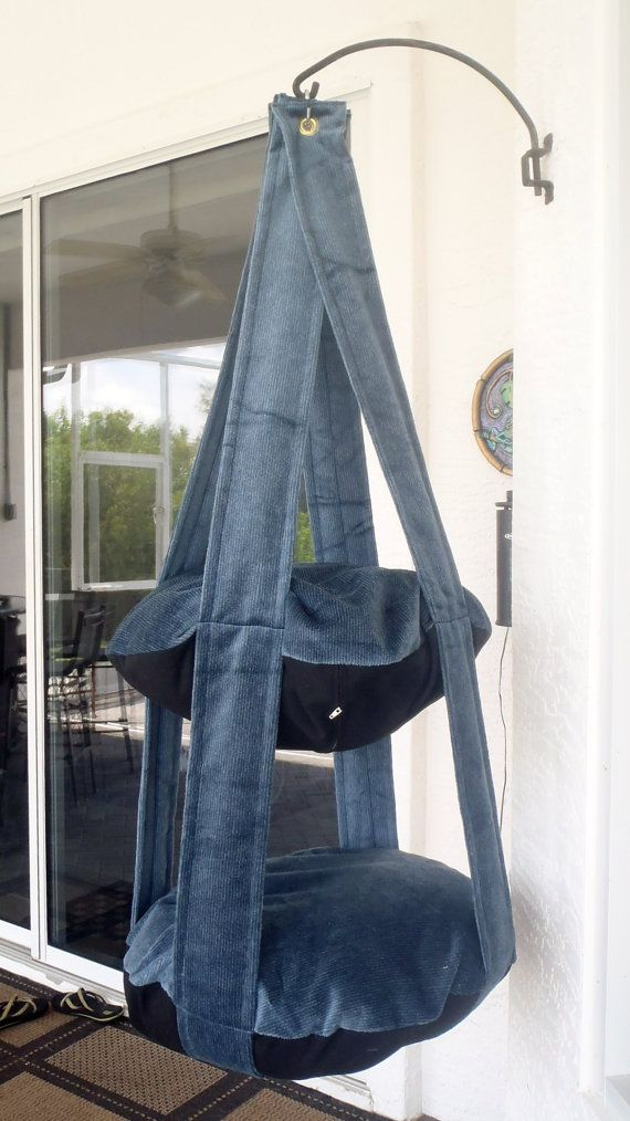 Blue & Black Double Kitty Cloud Hanging Cat Bed by 7CatsHeaven, $65.00
