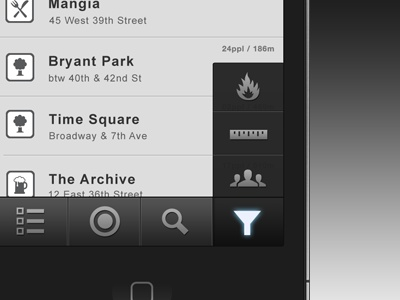 Dark User Interfaces for iPhone Apps / Design Tickle