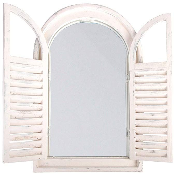 Esschert Design White Window Frame W French Doors Shutter Mirror White Windows French Doors
