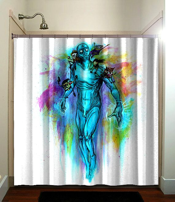 135 best pin up girl artwork shower curtain images on - Keith haring shower curtain ...