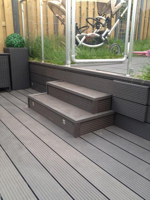 55 beste afbeeldingen over composiet vlonderplanken op pinterest - Bedek een houten terras ...