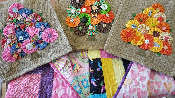 Handmade quilts and bags by Dementia Australia ACT Division & their Quilts For Linda project, at The Paris End, Mitchell, Canberra