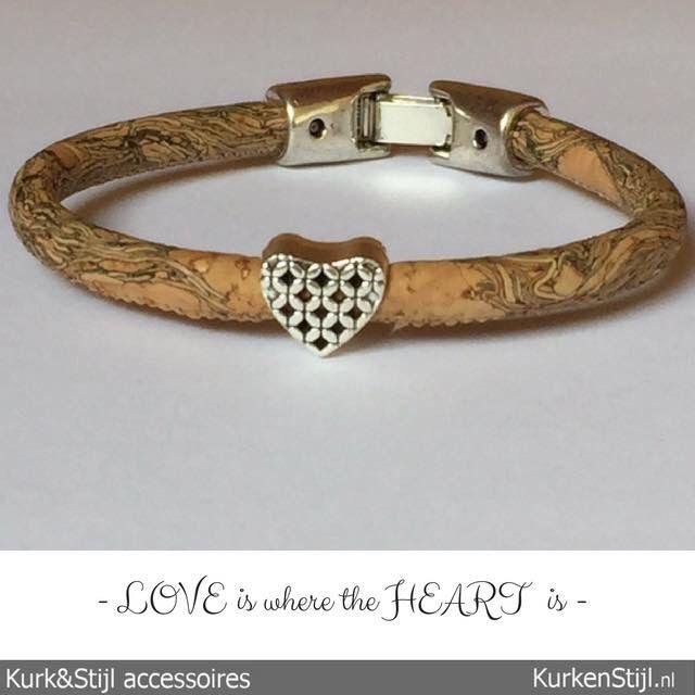 Love armband van kurk