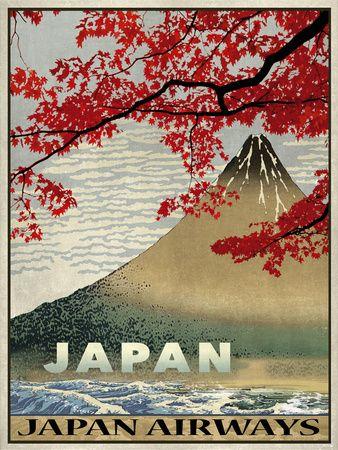 Vintage Travel Japan Giclee Print at AllPosters.com
