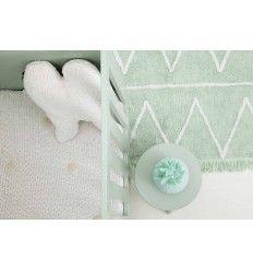 Alfombra Lavable Lorena Canals Hippy Menta Mint Blanket 120 x 160 cm. Alfombras infantiles lavables en www.toctocinfantil.com