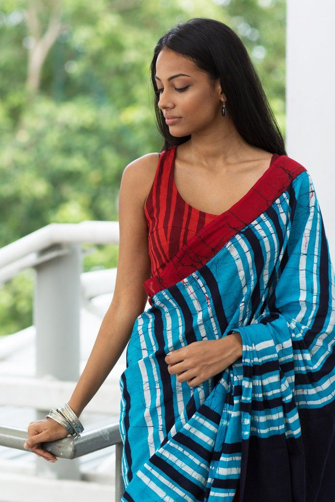 Maasai Stripes Saree from FashionMarket.lk