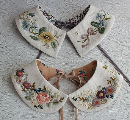 Embroidered collars