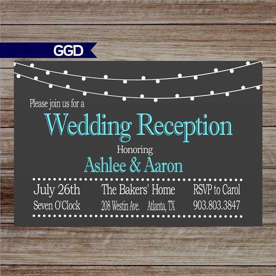 47 Best Wedding Reception Invitations Images On Pinterest