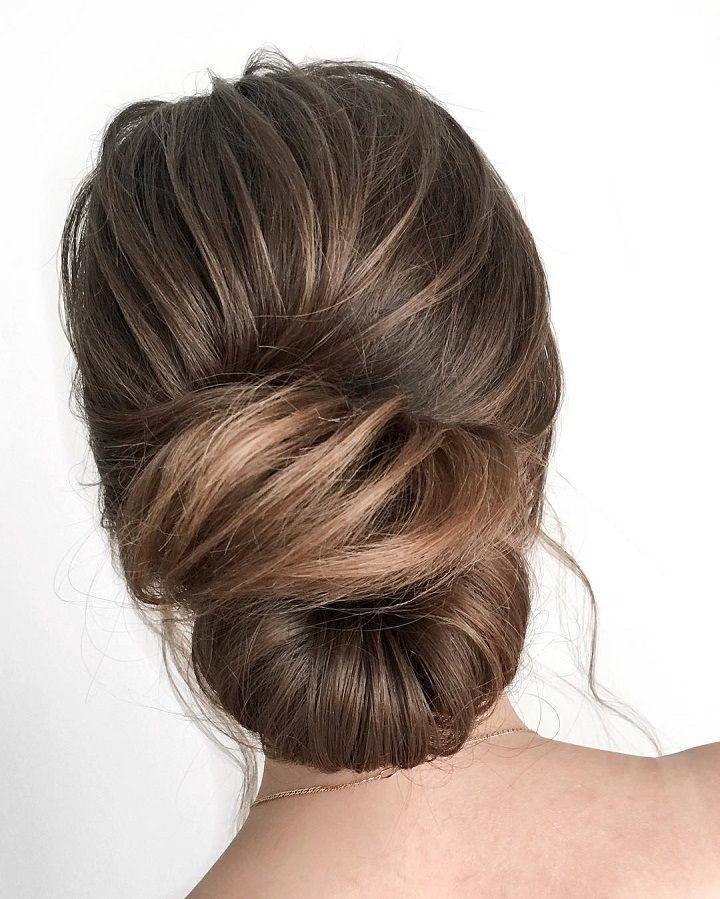 Beautiful twisted updo wedding hairstyle idea - wedding hair ,hairstyle ,updo ,messy updo ,hair updo ideas ,hair ideas ,bridal hair ,french chignon ,messy updo hair ,wedding hairstyles ,hairstyles ,hairs ideas