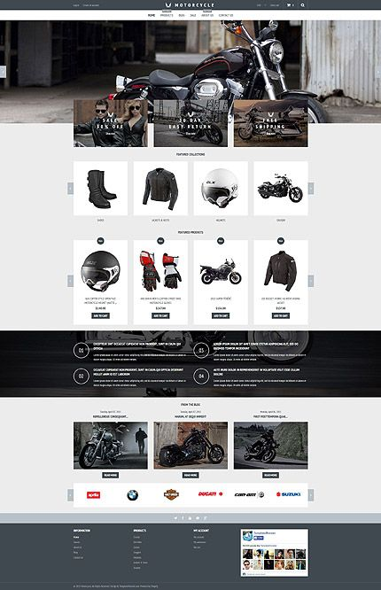 Motorcycle Parts Online Store #Shopify #template. #themes #business #responsive #webshop