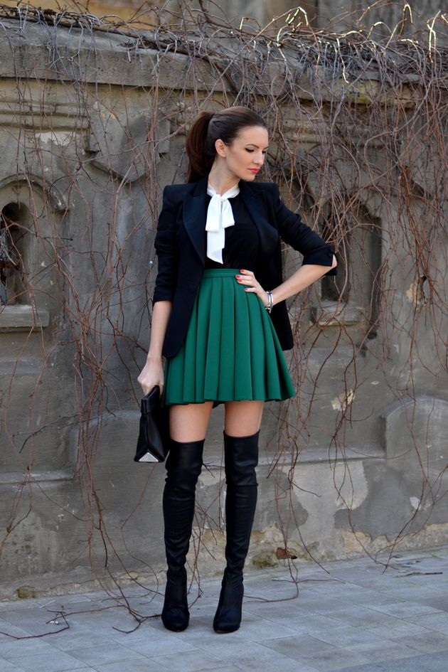 Fall Outfit Ideas With Over The Knee Boots