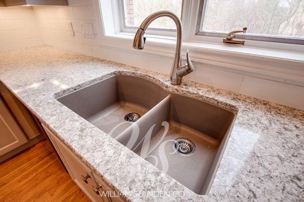 Blanco Quartz Kitchen Sinks White Gold